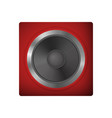audio speakers for a netbook vector image vector image