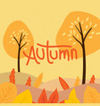 autumn background with cute vector image