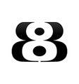 bb 8 initials symbol logo design template vector image