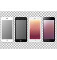 big set with phones vector image
