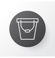 bucket icon symbol premium quality isolated pail vector image vector image