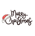 christmas background with santas hat vector image vector image