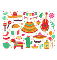 cinco de mayo guitar party isolated mexican vector image vector image