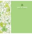 clover line art square torn seamless pattern