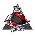 Color vintage fireman emblems vector image vector image
