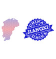composition of gradiented dotted map of jiangxi vector image vector image