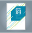 cover annual report 908 vector image vector image