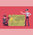 credit card hacking crime vector image