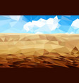 desert sand against a cloudy sky multicolored vector image