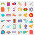 different application icons set cartoon style vector image vector image