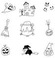Doodle of Element Halloween character vector image vector image