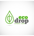 Eco Drop Concept Symbol Icon or Logo Template vector image vector image