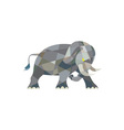 Elephant Attacking Side Low Polygon vector image vector image