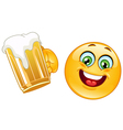 emoticon with beer vector image