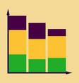 flat icon on stylish background economic chart vector image vector image