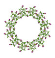 floral wreath with red clover vector image