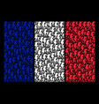 france flag pattern of electric strike icons vector image
