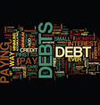 free from debt text background word cloud concept vector image vector image