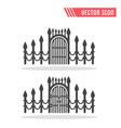 gate icon sign symbol vector image