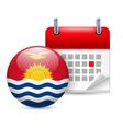 Icon of national day in kiribati vector image vector image