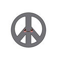 kawaii hippie peace love circle button element vector image