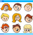 kids or teens cartoon characters set vector image vector image