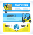 Logistic horizontal banners vector image