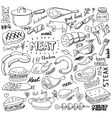 meat elements set vector image