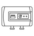 modern boiler icon outline style vector image