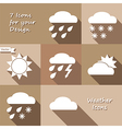 Monochrome icons design of weather forecast vector image
