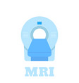 mri scanner icon isolated on white in flat style vector image vector image