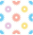 nature and sunflower seamless pattern vector image vector image