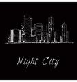 Night city skyline sketch vector image vector image