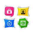 photo camera icon flash light and video frame vector image vector image