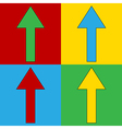 Pop art arrow straight symbol icons vector image vector image
