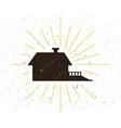 retro home silhouette logo vector image vector image
