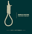 rope for hanged oneself vector image vector image