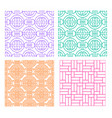 seamless line pattern in modern chinese style vector image vector image