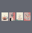 set colorful collage contemporary cards vector image