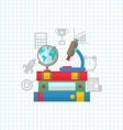 Set of Education Flat Colorful Simple Icons vector image vector image