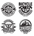 set vintage emblems vector image