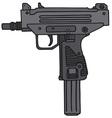 Short automatic gun vector image vector image