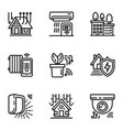 smart device icon set outline style vector image