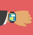 smart watch message vector image