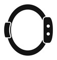 smart wristband icon simple style vector image vector image