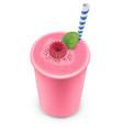 smoothie raspberry vector image