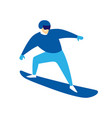 snowboarder jumping man vector image vector image