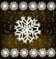snowflakes on dark background vector image