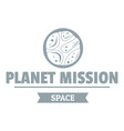 space mission logo simple gray style vector image vector image