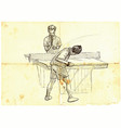 Sport table tennis ping-pong an hand drawn